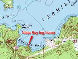 Niles Bay log home