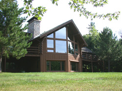 Niles Bay log home